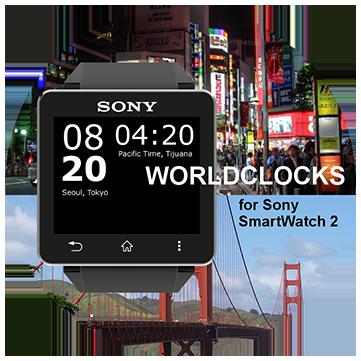 Sony SmartWatch2 WorldClock