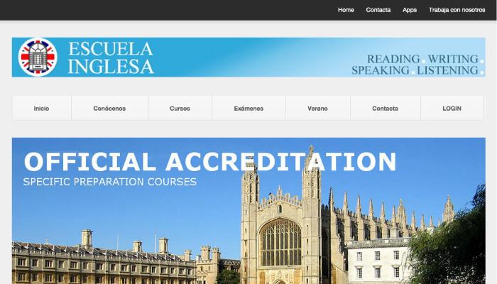Escuela Inglesa Webpage